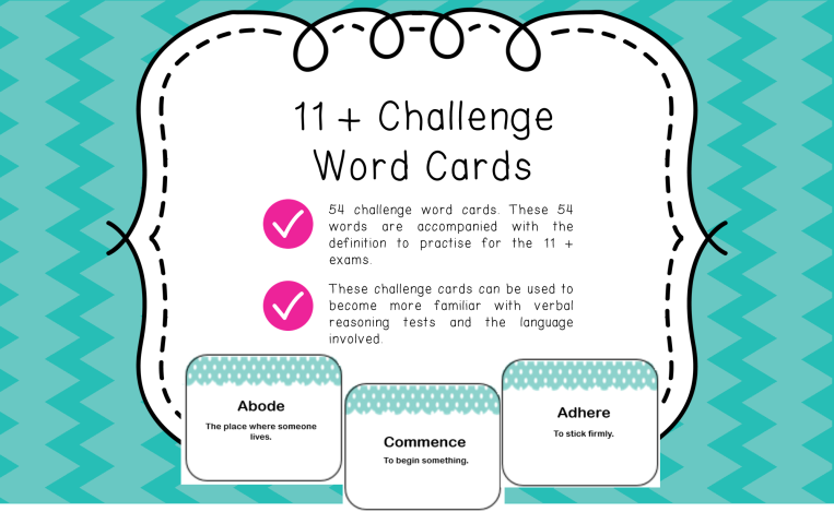 11 + cards page 1