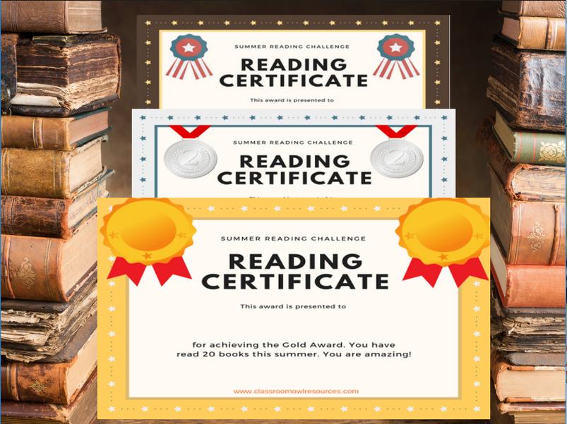 tes reading certificates
